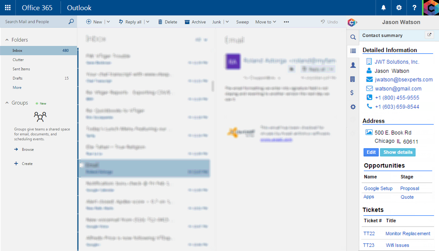 Summary View (Office 365)