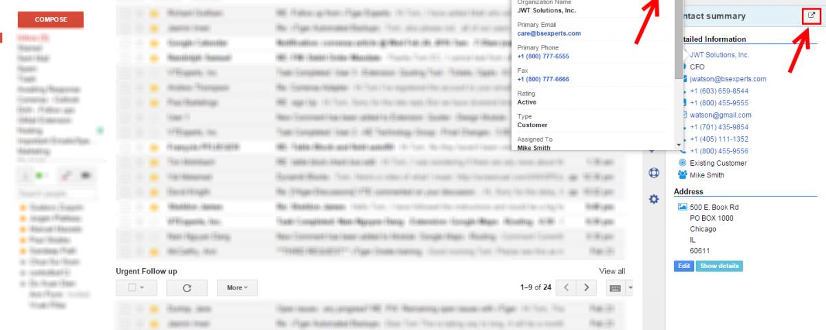 Corrensa - VTiger Shortcut (Gmail, Outlook, Office 365)