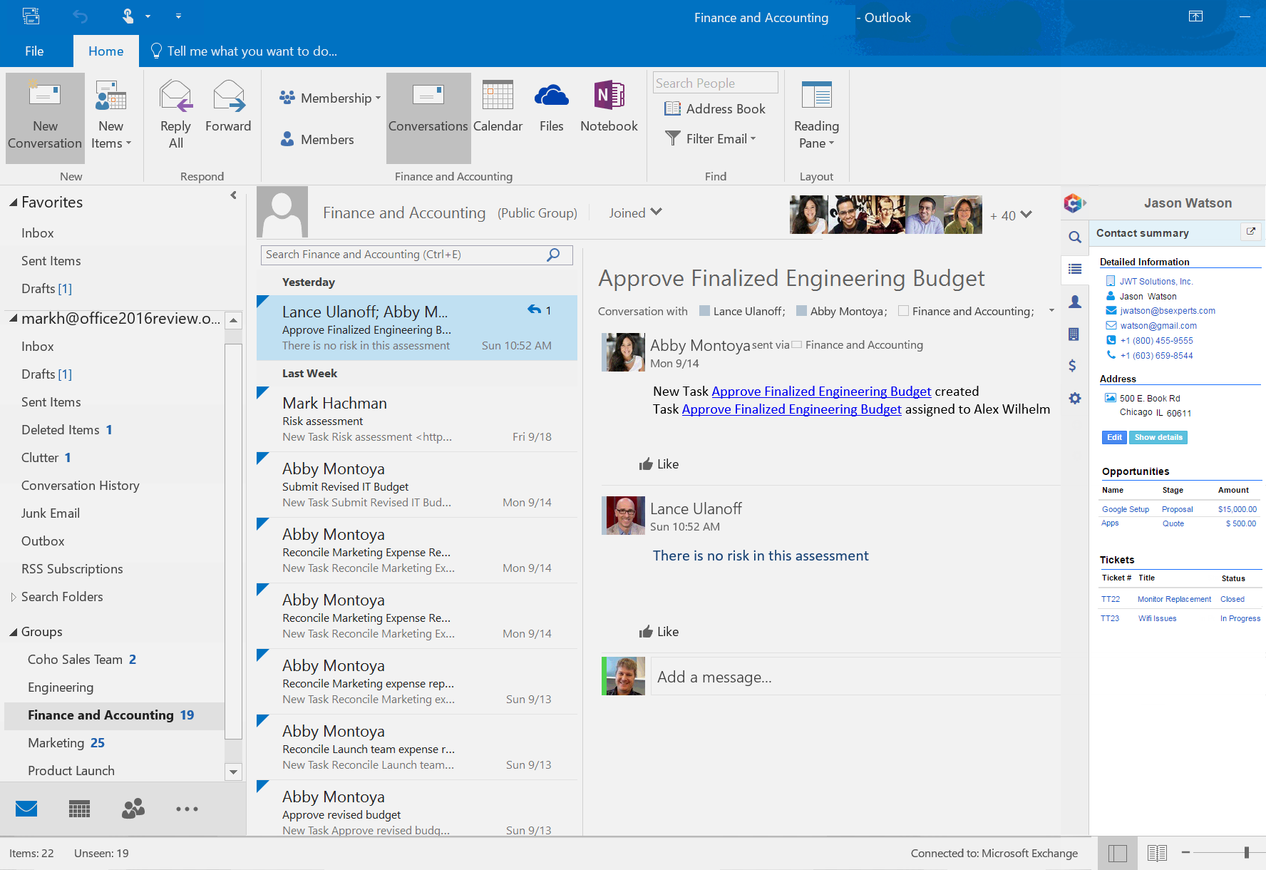 Summary View (Outlook)